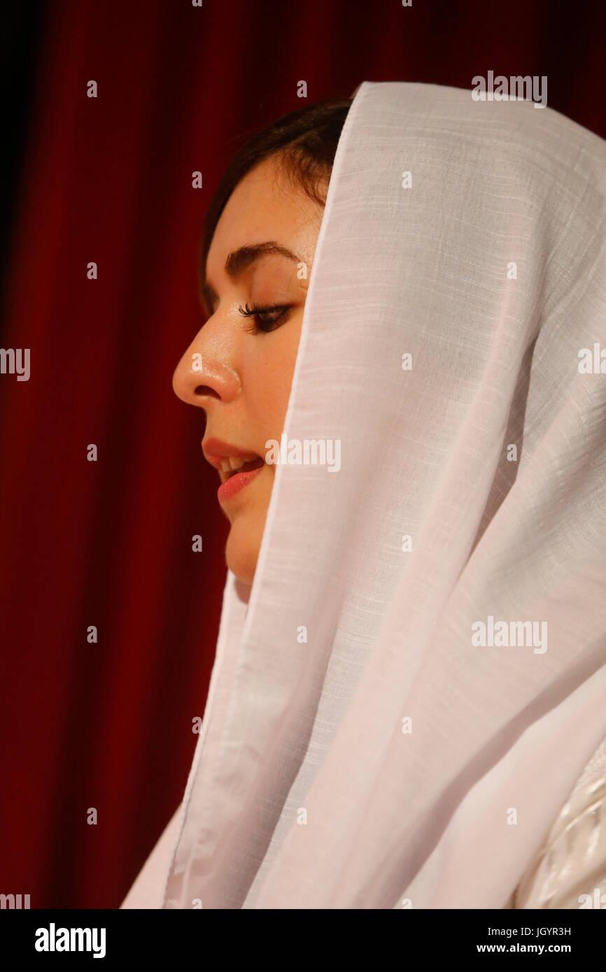 Grand Mawlid de Paris sufi la raccolta e la celebrazione. AISA Ensemble (Algeria). Alawiya sufi. La Francia. Immagini Stock