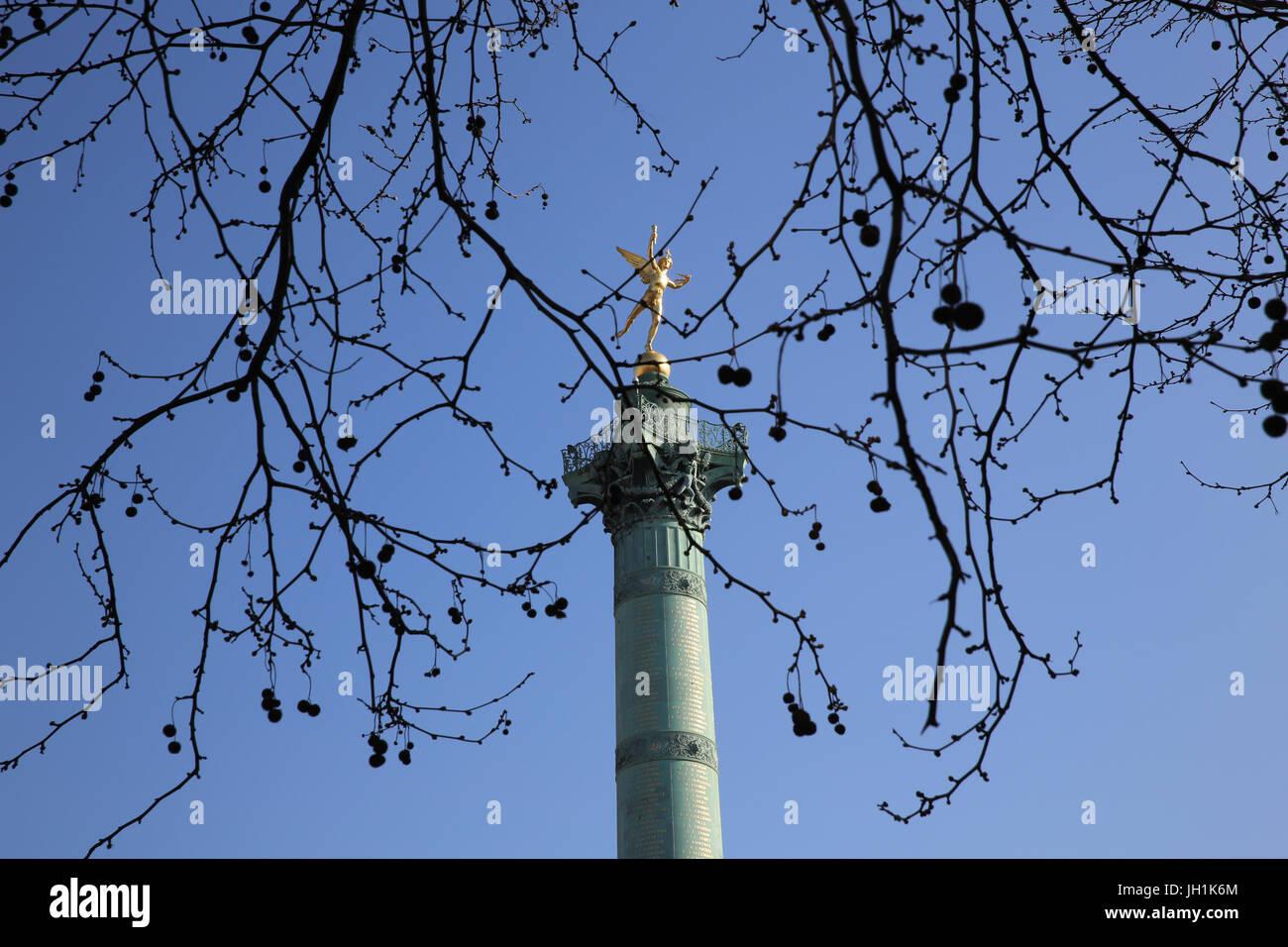 Colonna di Bastille, Parigi. La Francia. Immagini Stock