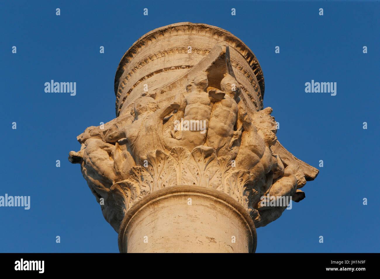 Colonna Romana di Brindisi. L'Italia. Immagini Stock