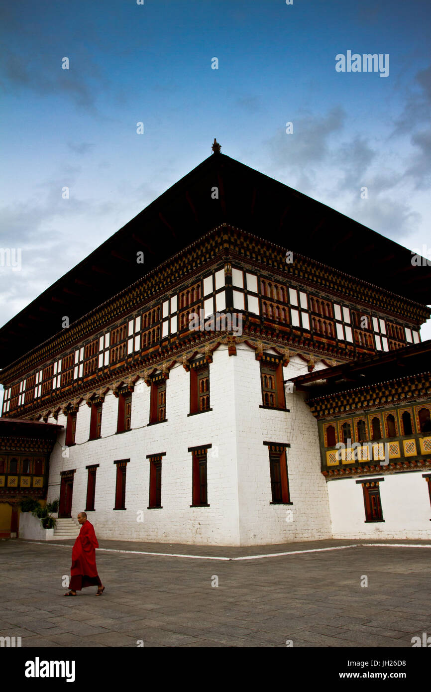 La Tashi Dzong Chho Fortezza, Thimpu, Bhutan, Asia Immagini Stock