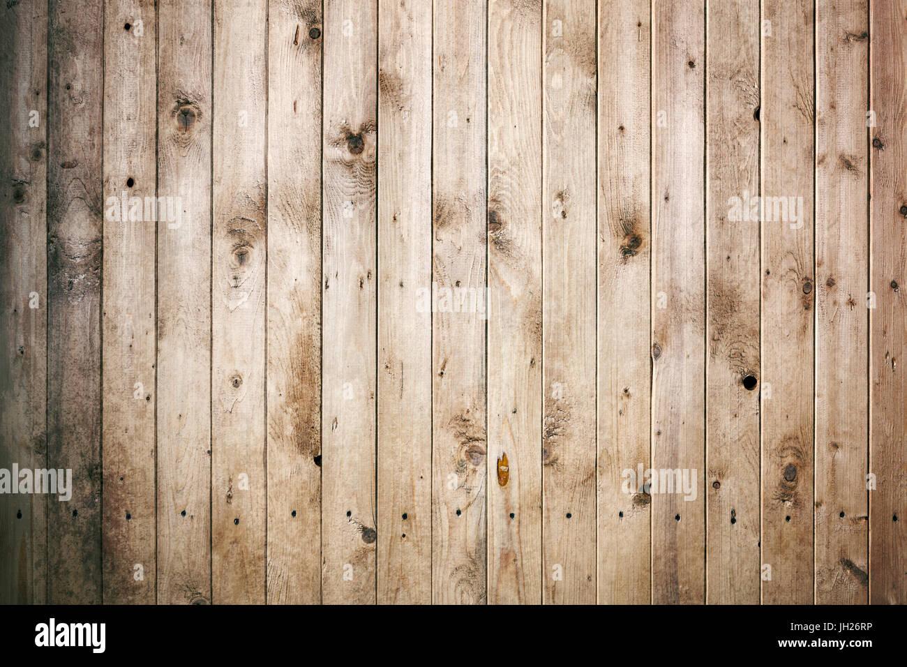 Close up di piastrelle in legno parete composta da tavole di pino