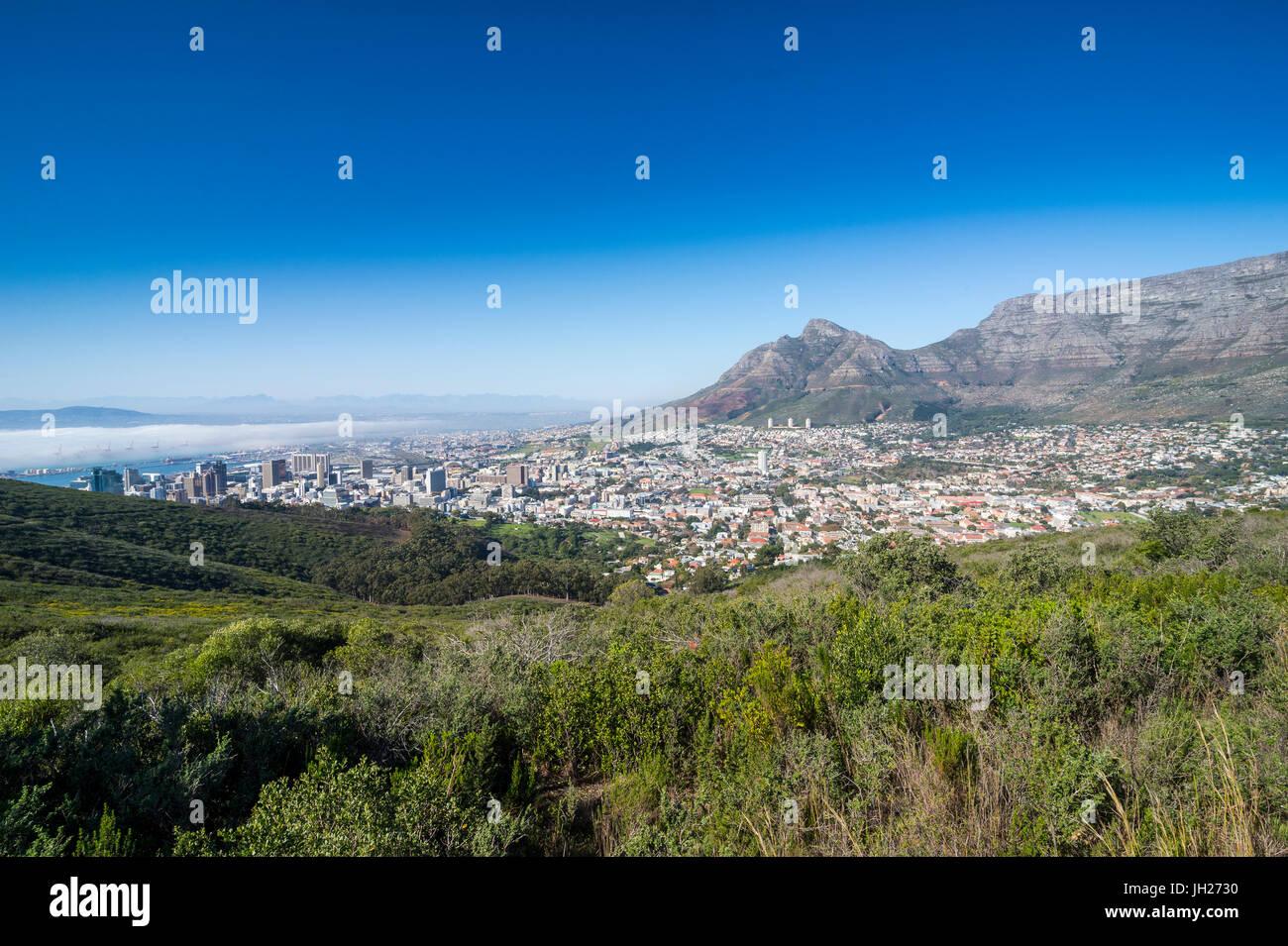 Vista sulla Città del Capo, Sud Africa e Africa Immagini Stock