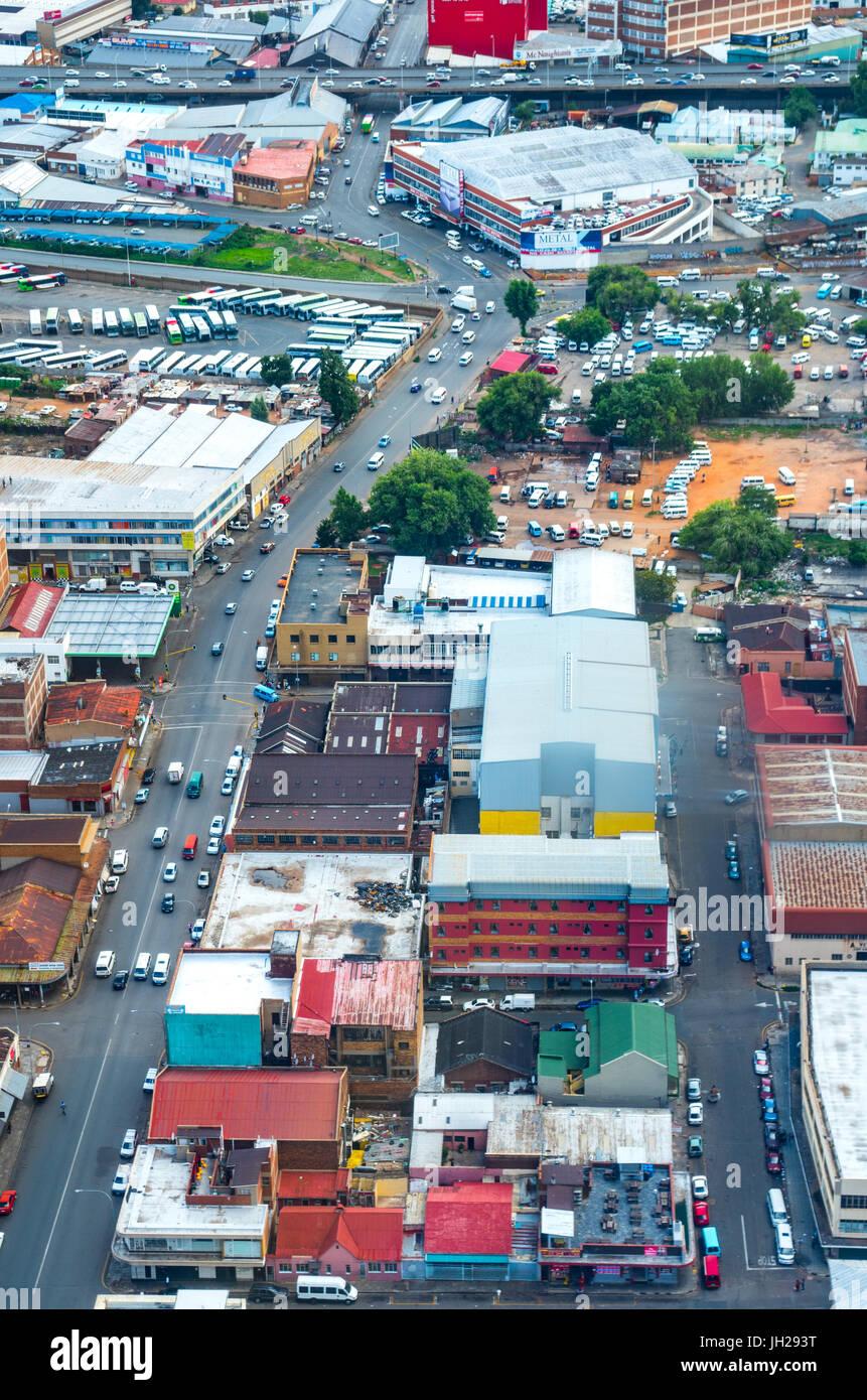 Rundown Johannesburg cityscape dalla sommità del Carlton Centro, Johannesburg, Sud Africa e Africa Immagini Stock