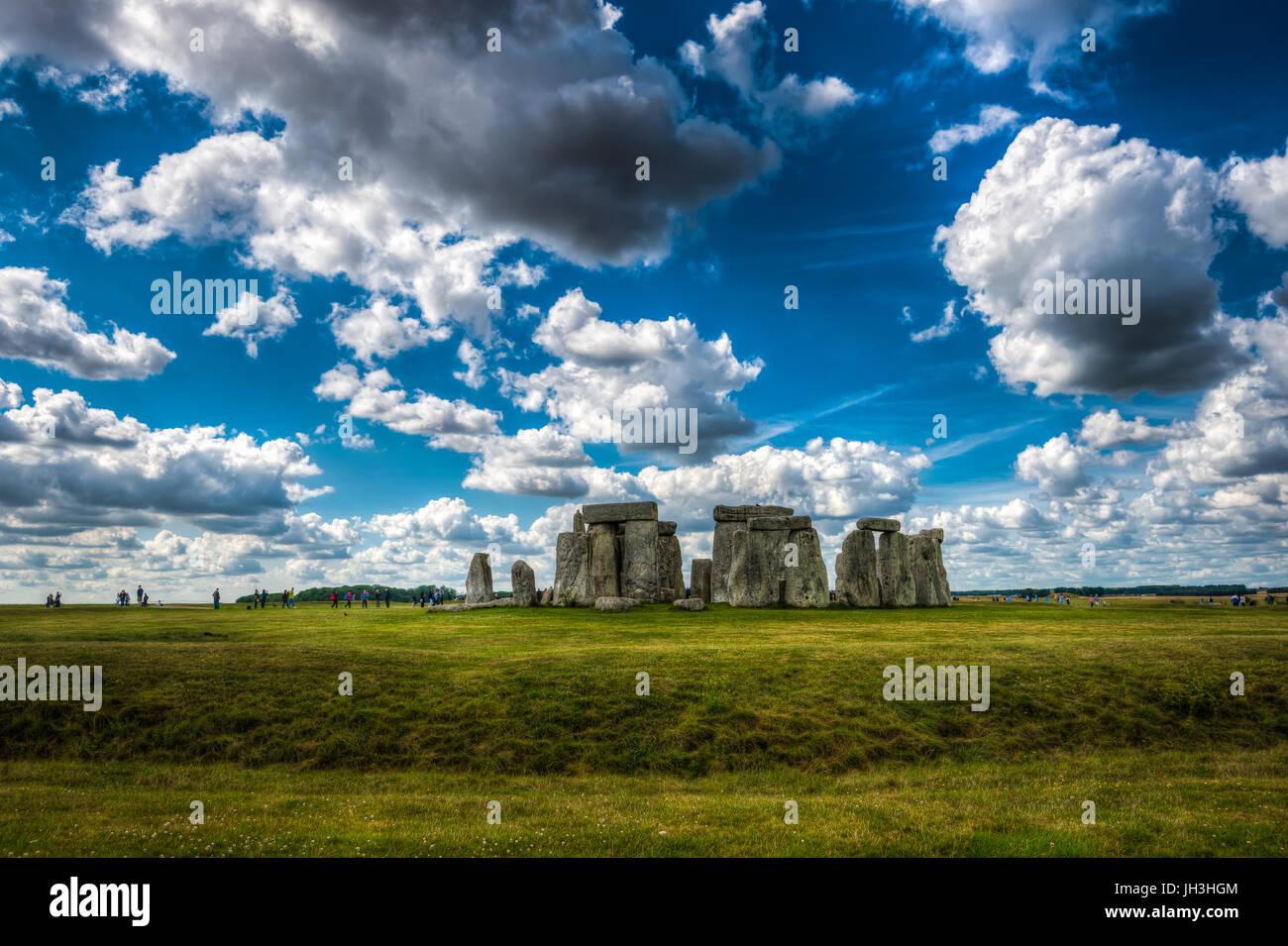 Stonehenge, Wiltshire, Regno Unito.Il sito e i suoi dintorni sono stati aggiunti alla UNESCO la lista dei siti del Immagini Stock