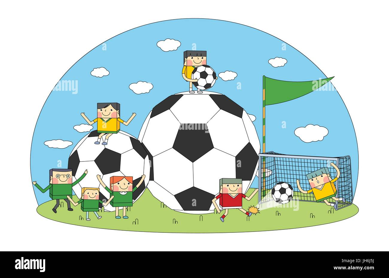 buy online 88281 cbb1a Concetto di calcio line character design, vettore ...