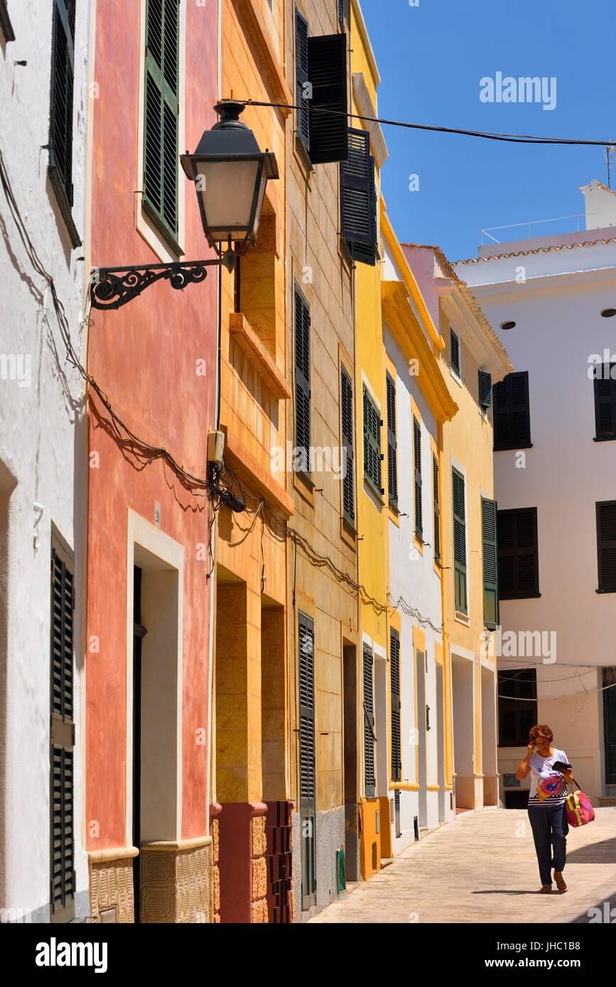 Ciutadella street scene Menorca Minorca Immagini Stock