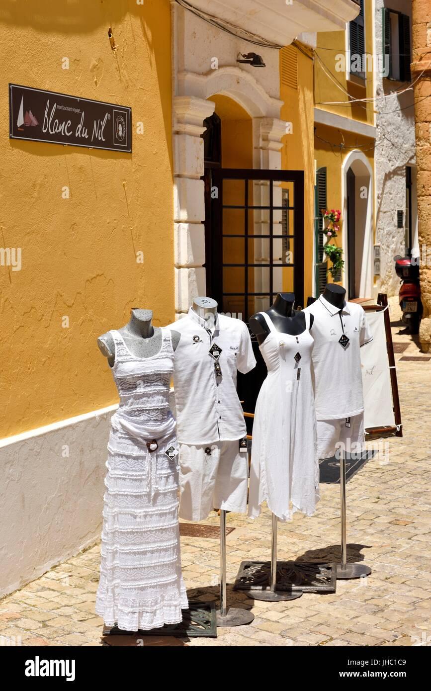 Ciutadella street scene Menorca Minorca Foto Stock