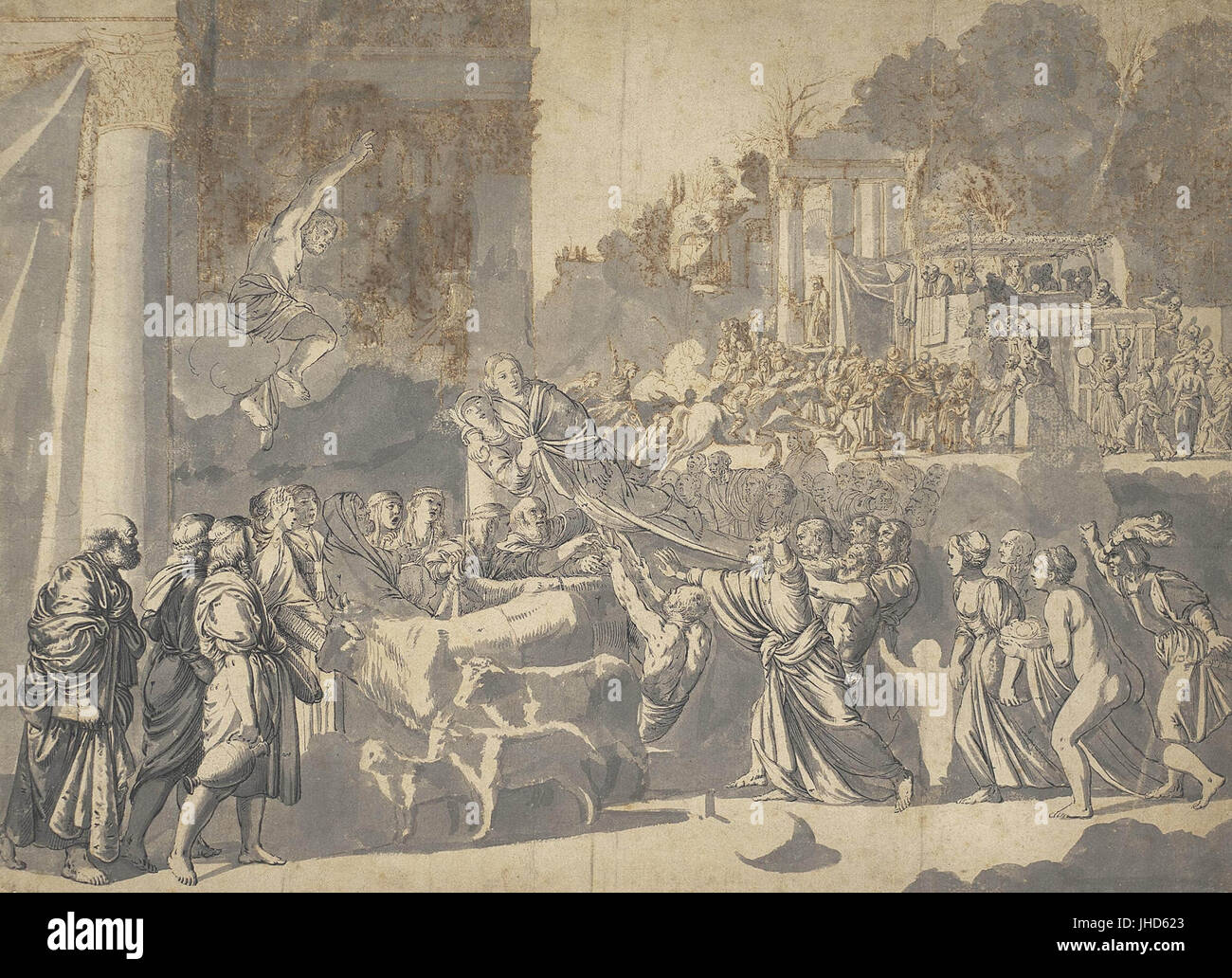 Cerchio di Elsheimer Adam il contento Immagini Stock