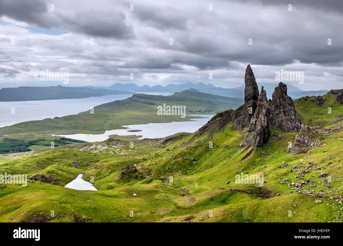 Il vecchio uomo di Storr, Isola di Skye, Highland, Scotland, Regno Unito. Paesaggio scozzese / Paesaggi. Immagini Stock