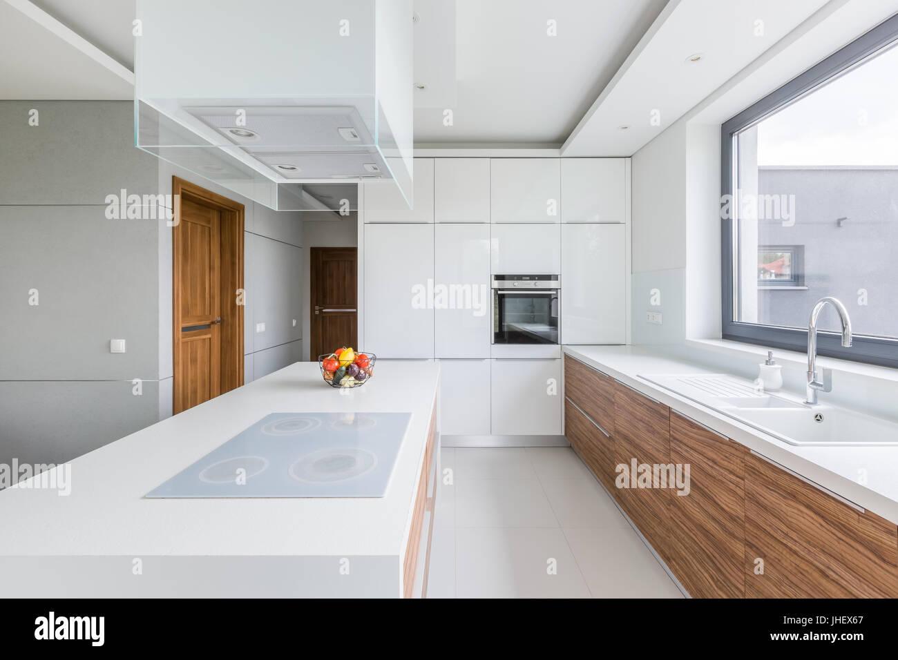 Cucine Con Bancone In Legno : In legno massello mobili da cucina con granito da banco