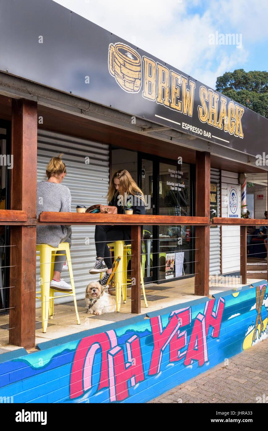 Capanna Brew coffee shop nel centro di Margaret River Town, Australia occidentale Immagini Stock