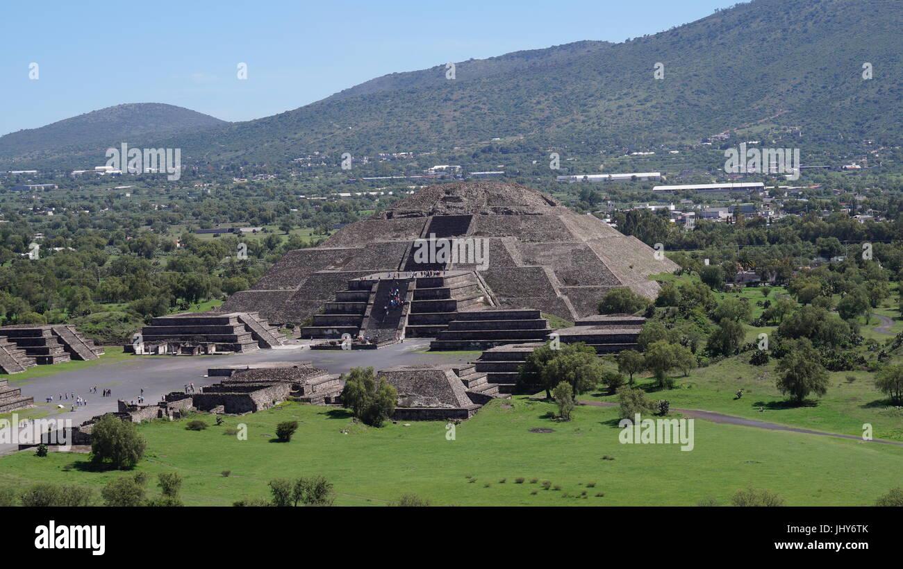 Teotihuacan città degli dèi, bella cultura messicana e architettura di bellezza che vi lascerà senza Immagini Stock