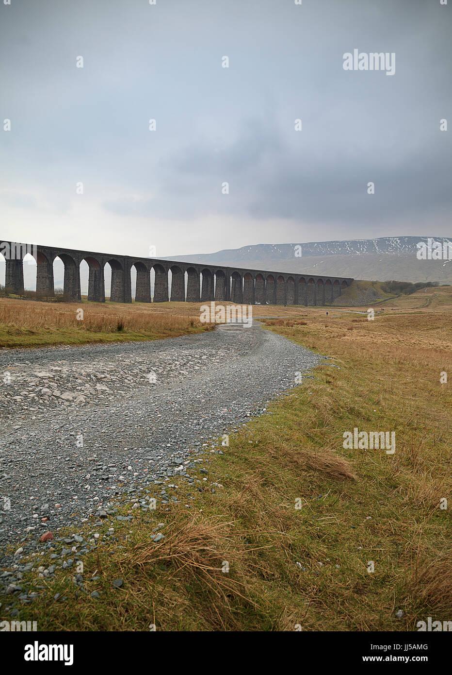 Il maltempo shot del viadotto Ribblehead Immagini Stock