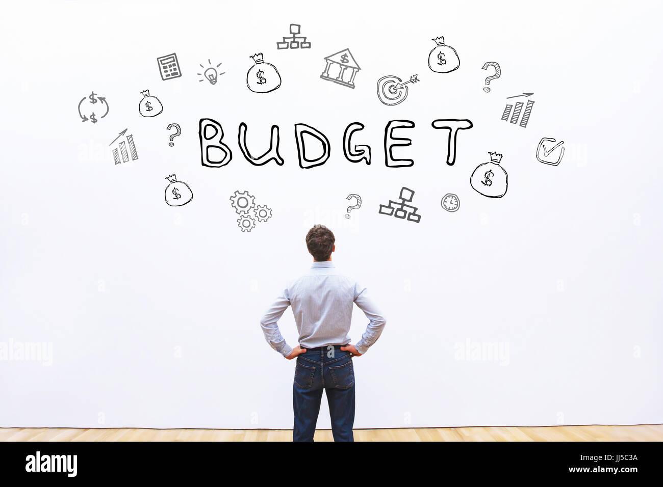 Concetto di bilancio, pianificazione finanziaria in azienda Immagini Stock