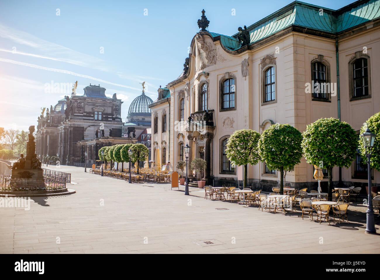 La città di Dresda in Germania Immagini Stock