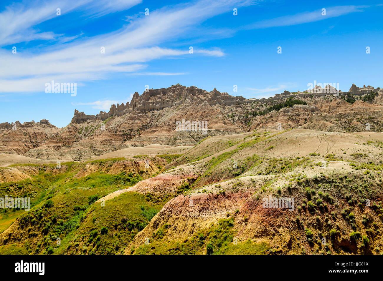 Badlands Sassi Dipinti Foto Stock