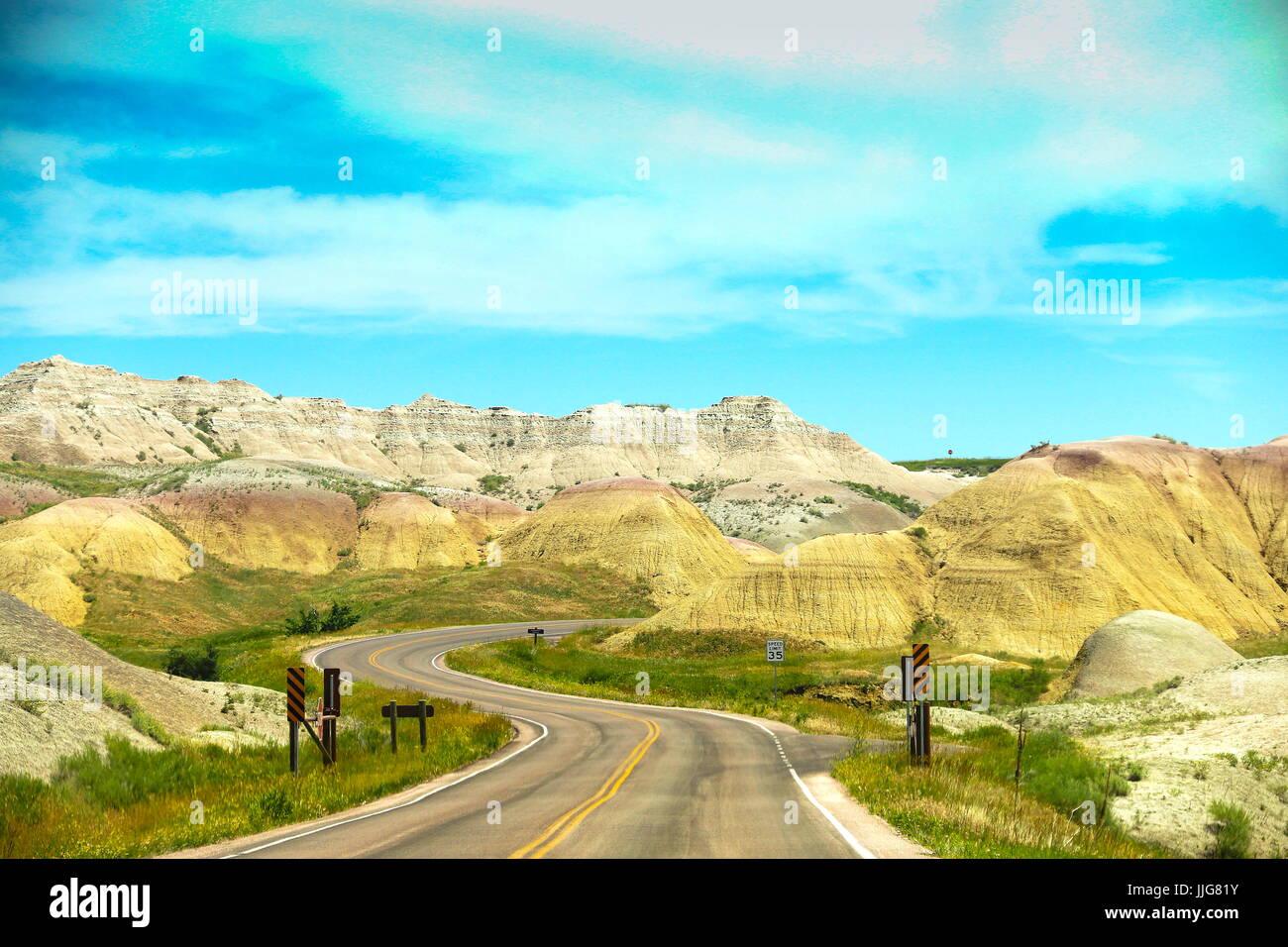 Badlands Lop Road Foto Stock