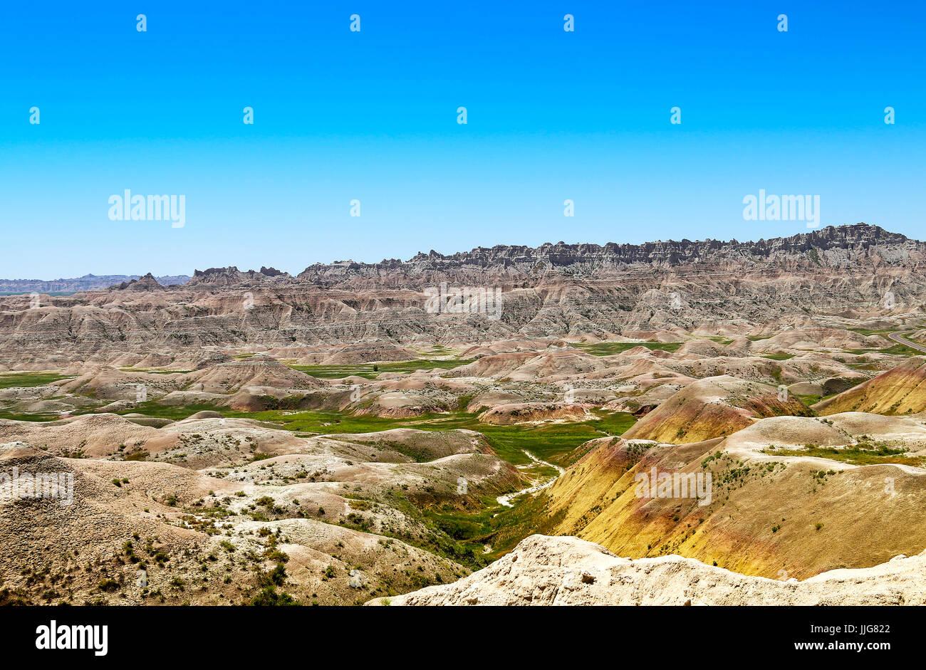 Badlands deserto dipinto Foto Stock