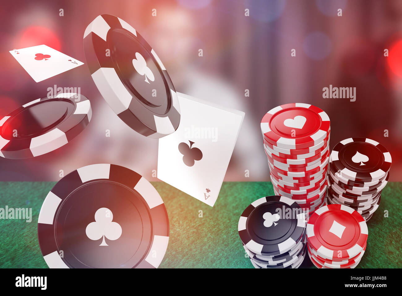 Immagine composita di immagine 3d di black casino token con simbolo del club Foto Stock