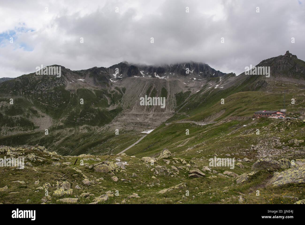 Nufenenpass 2.478 m Immagini Stock