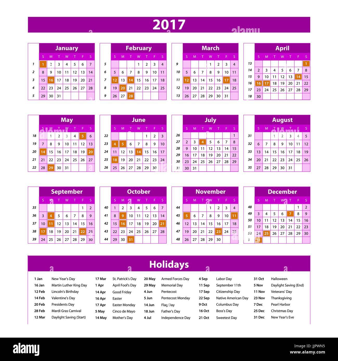 Calendario Con Foto Personali.Anno Planner Calendario 2017 Internazionale In Tutto Il