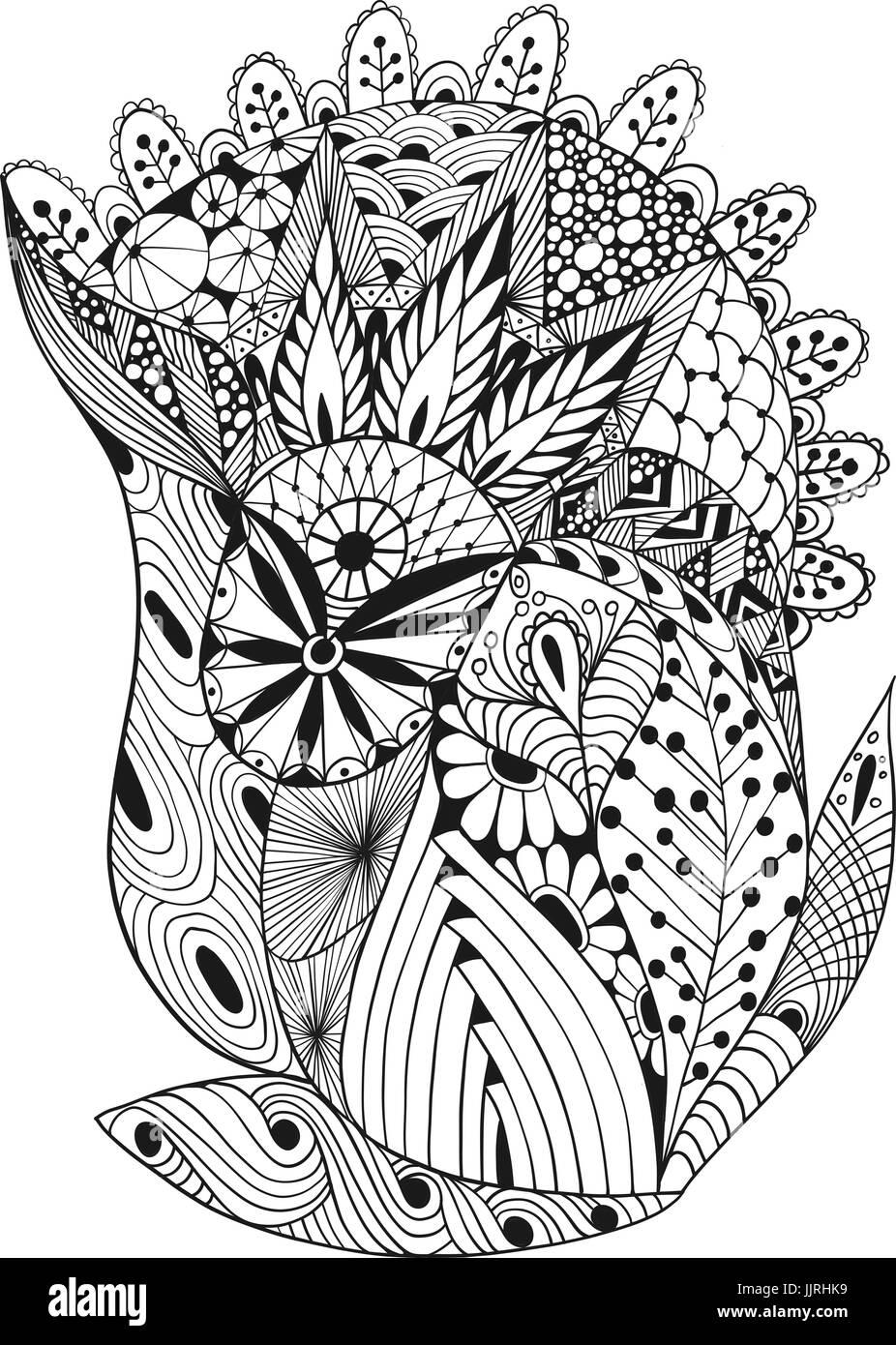 Illustrazione Vettoriale di astratta scarabocchi decorativi Immagini Stock