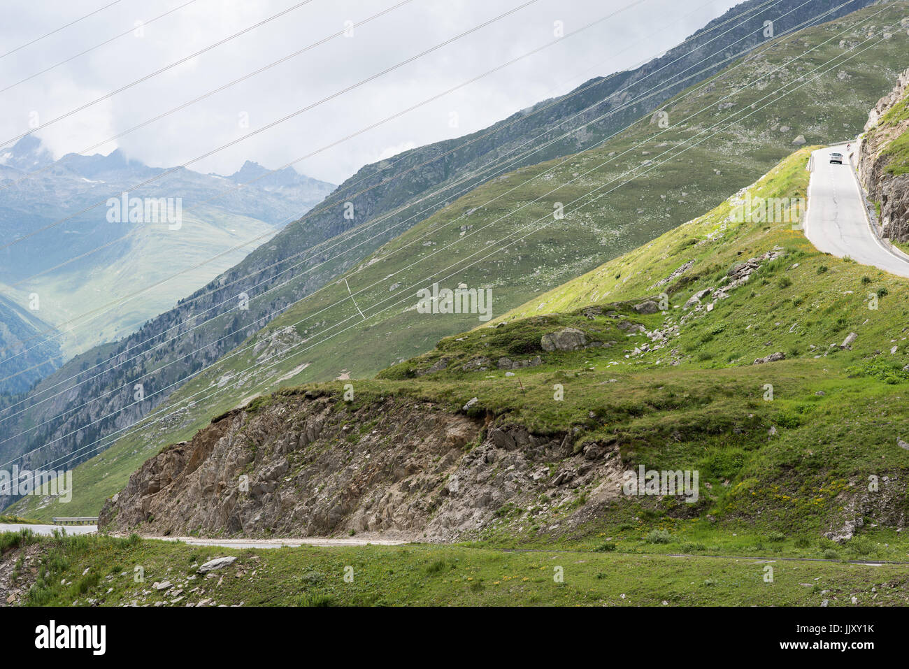 Nufenenpass svizzera Immagini Stock