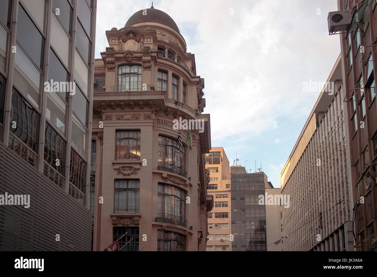 Edifici vecchi Downtown Sao Paulo, Brasile Immagini Stock