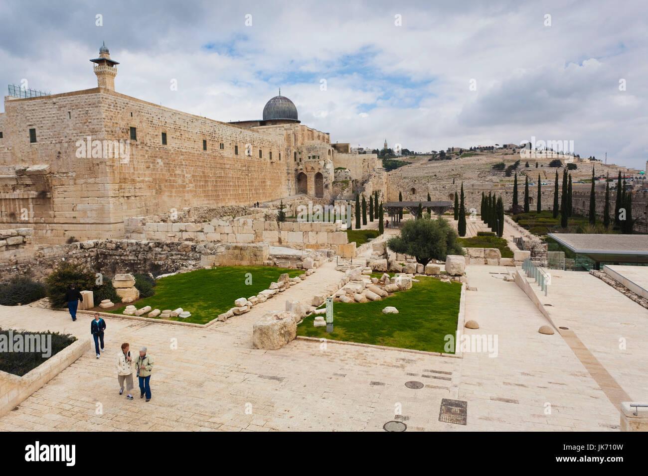 Israele, Gerusalemme, Montagna del Tempio e Cupola della roccia Immagini Stock