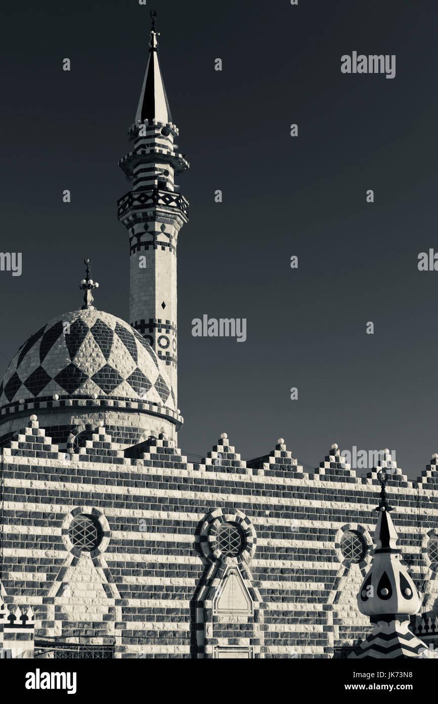Giordania, Amman, Abu Darwish moschea, costruito 1961 Immagini Stock