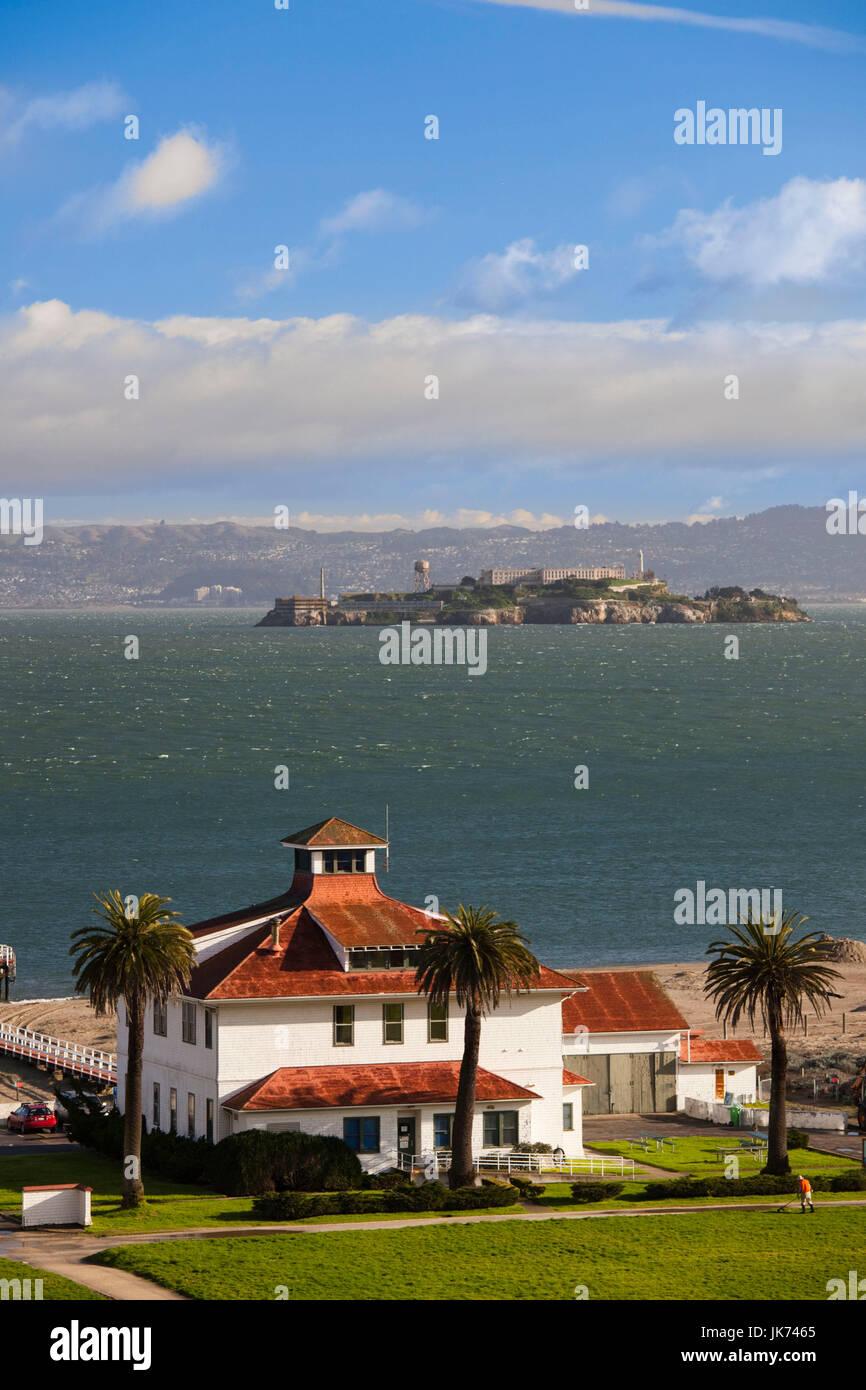 Stati Uniti, California, San Francisco, il Presidio, il Golden Gate National Recreation Area, Crissy Field Centro Immagini Stock