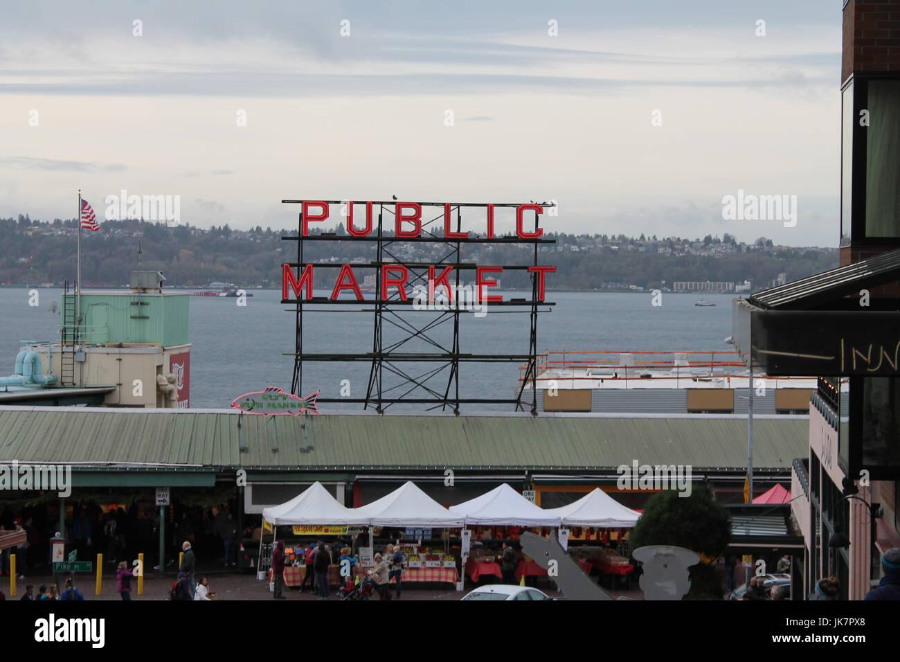 Seattle, Stati Uniti di Washington. Immagini della bautiful città di Seattle nello stato di Washington, Stati Immagini Stock