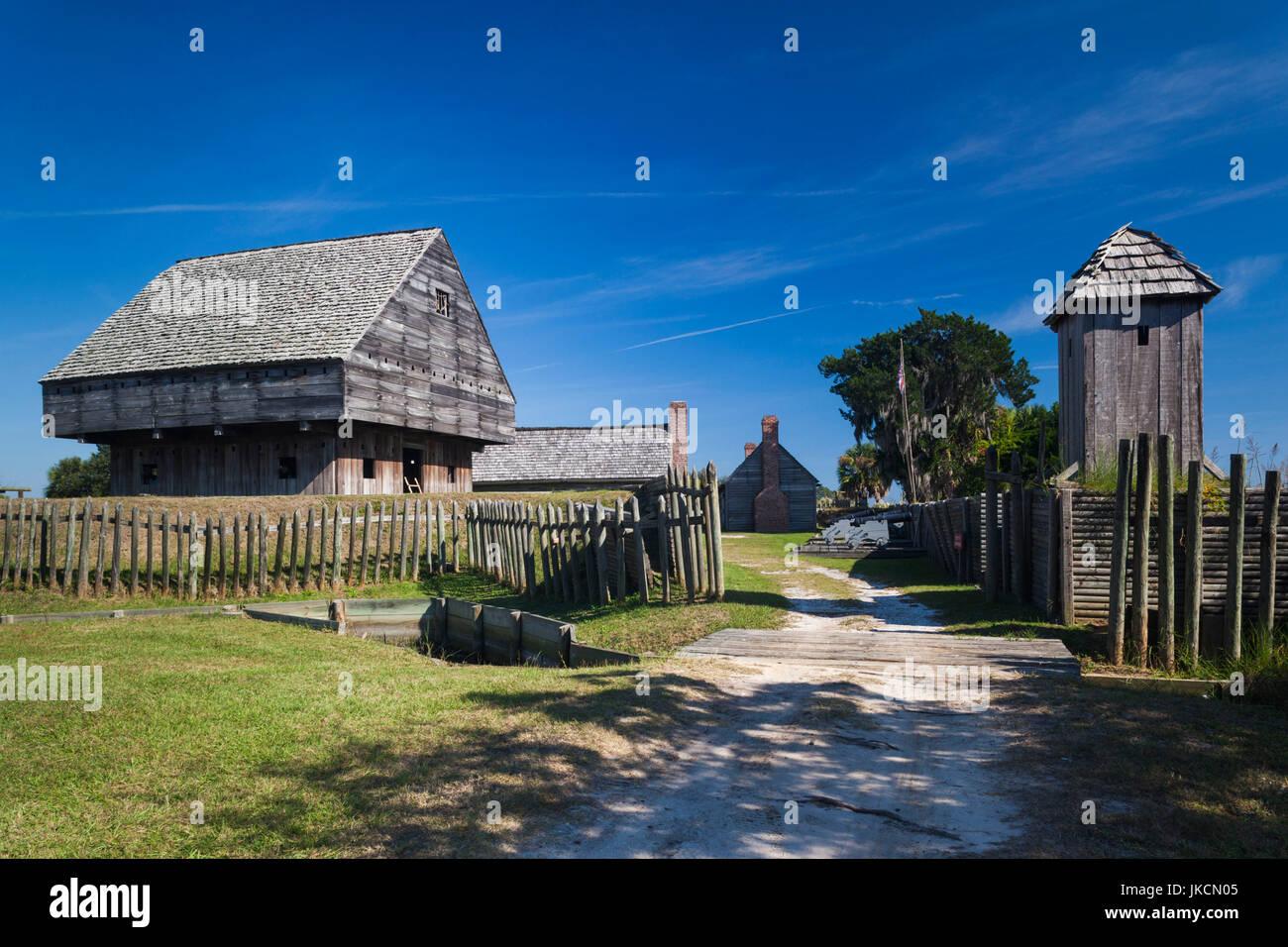 Stati Uniti d'America, Georgia, Darien, Fort King George sito storico dello Stato, primo insediamento inglese Immagini Stock