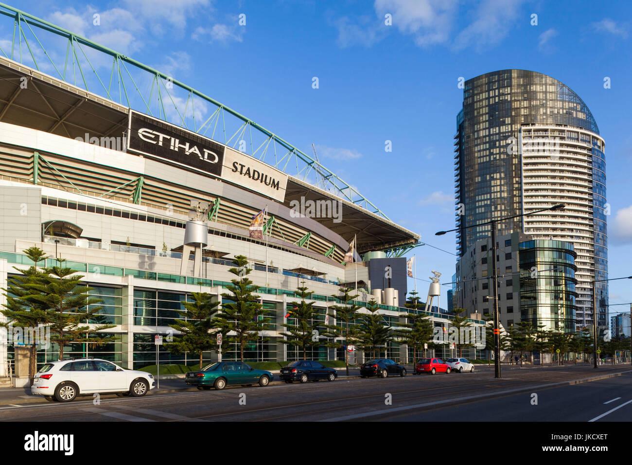 Australia, Victoria, VIC, Melbourne, Docklands, sul Porto Victoria Harbour Town, Complesso Etihad Stadium Immagini Stock