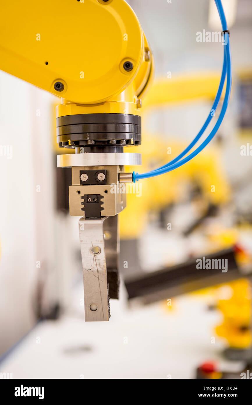 Dettaglio del robot industriale Immagini Stock