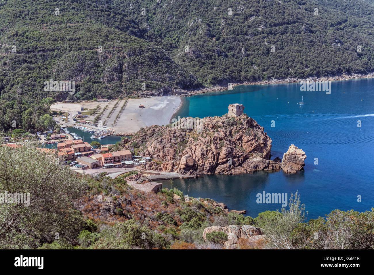 Porto, Ota, Corsica, Francia Immagini Stock