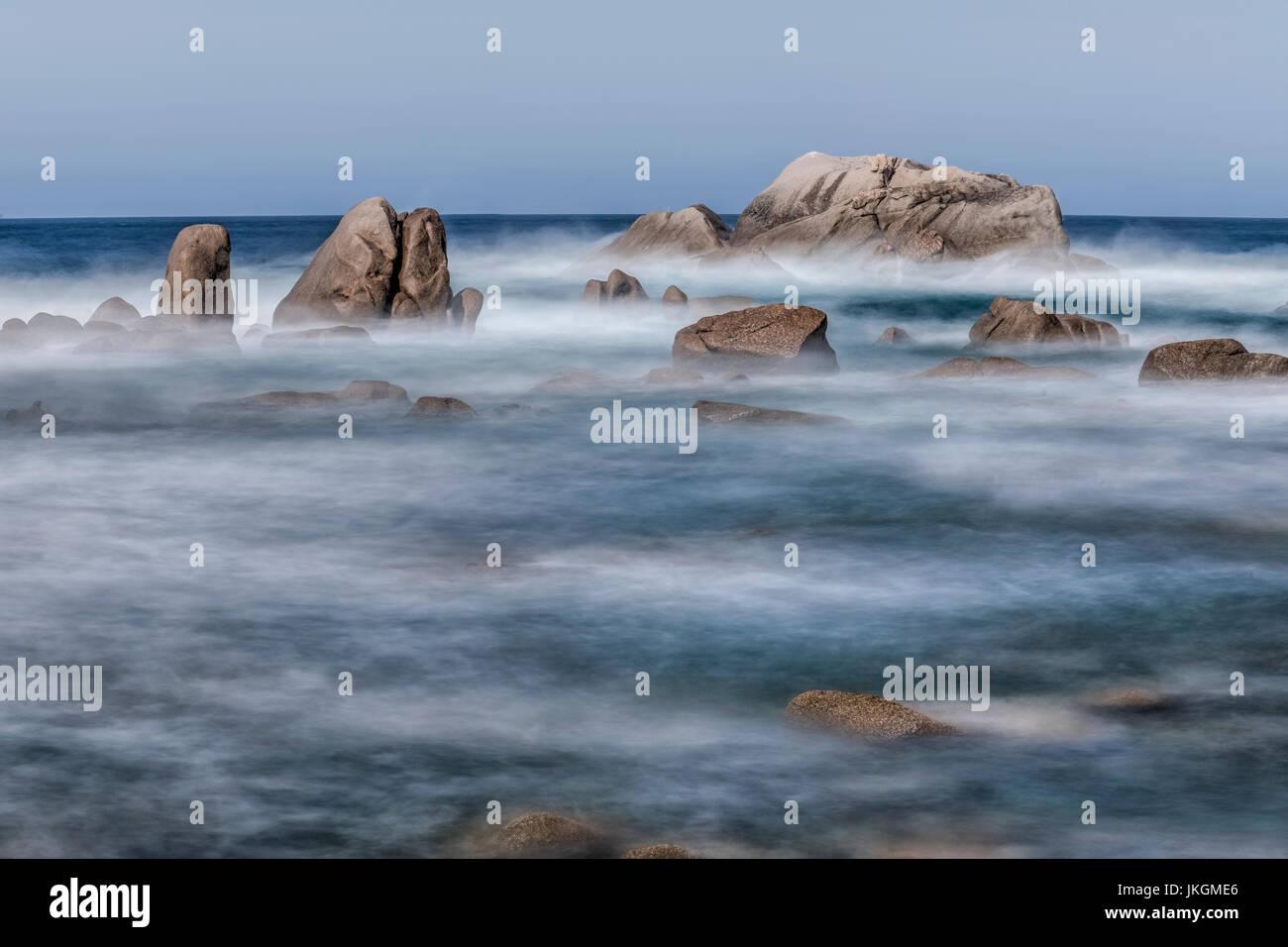 'Isolella, Punta di Sette navata, Pietrosella, Corsia, Francia Immagini Stock