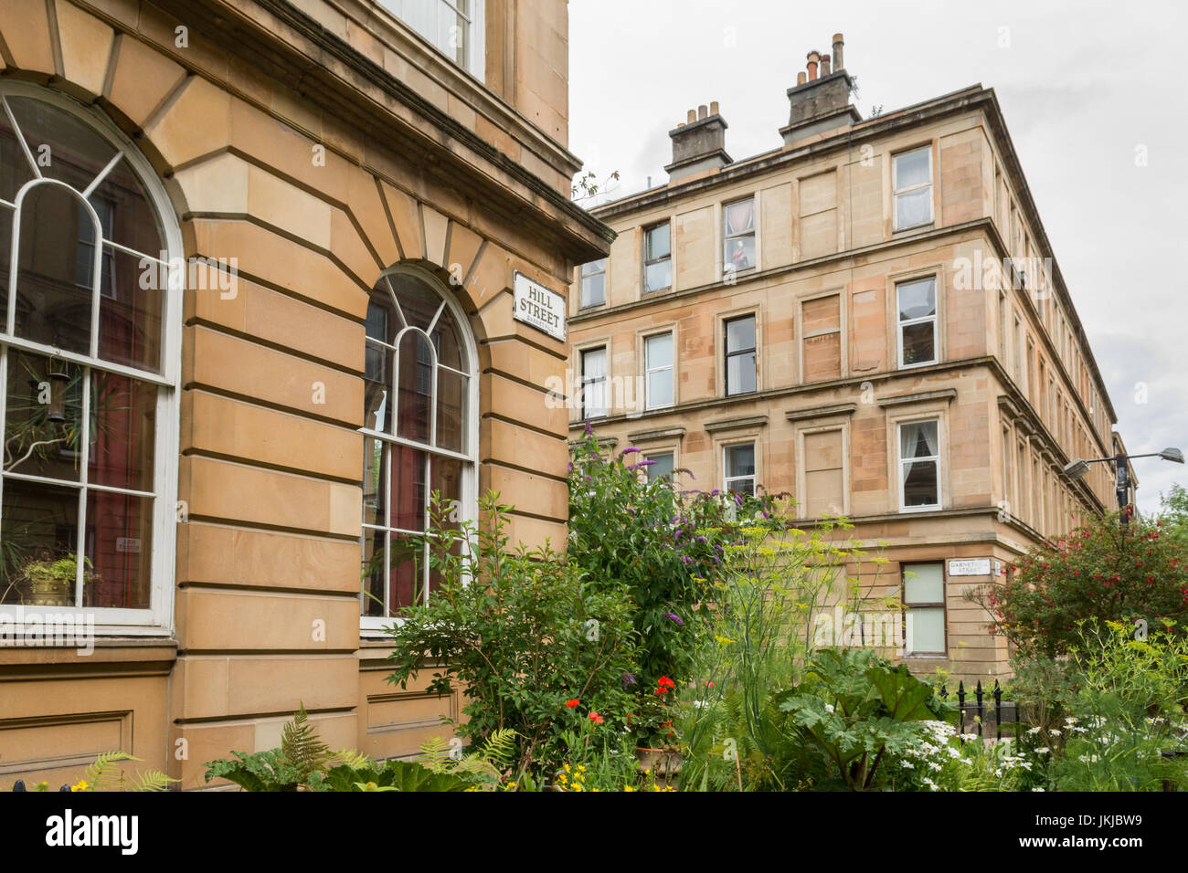 Garnethill - una zona residenziale del centro città di Glasgow, Scotland, Regno Unito Immagini Stock