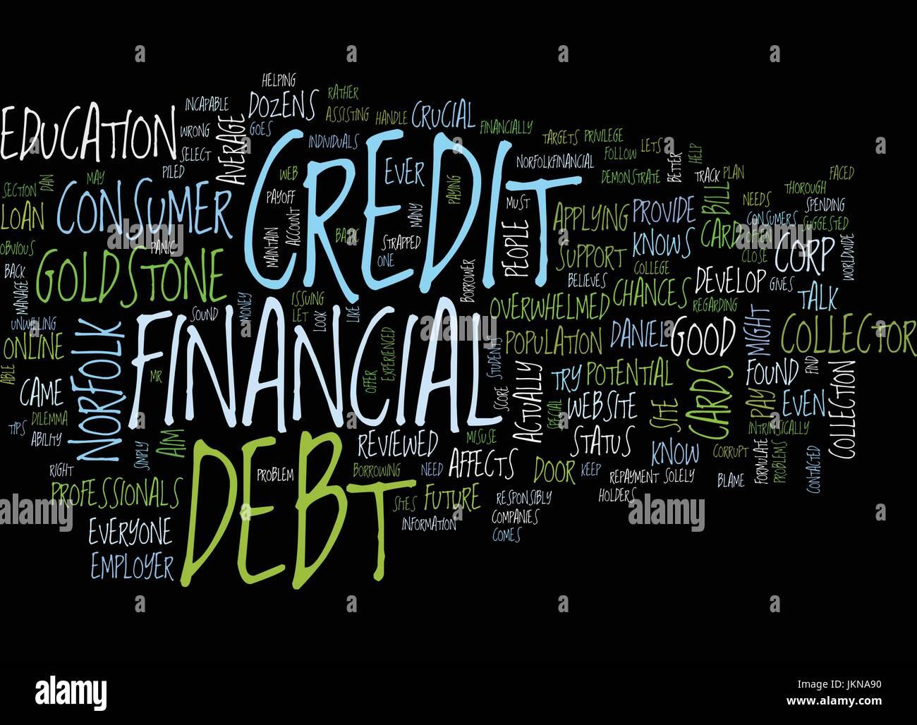 Parliamo di debito lo sfondo del testo parola concetto di cloud Immagini Stock