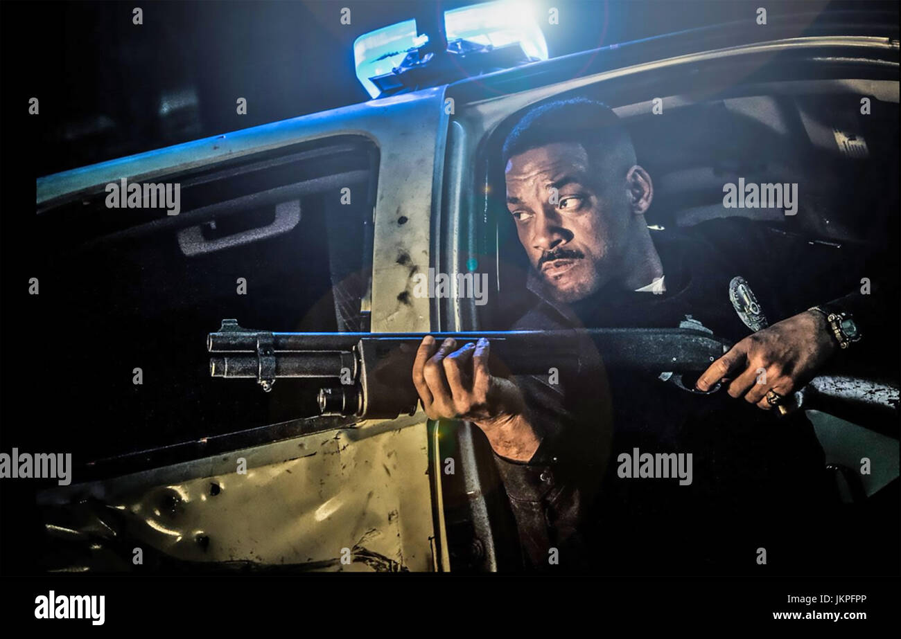 Luminose 2017 Netflix film con Will Smith Immagini Stock