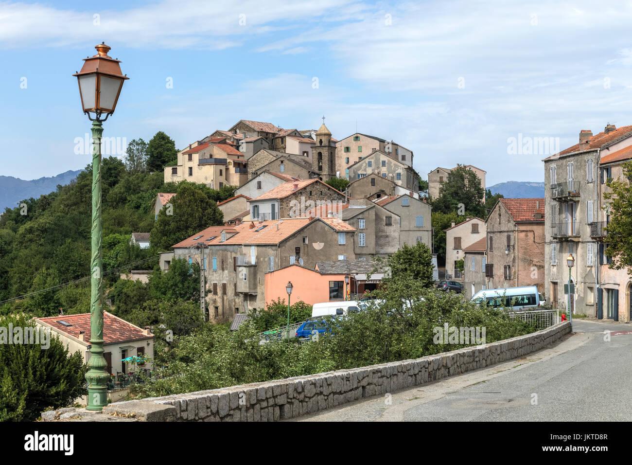 Riventosa, Haute-Corse, Corsica, Francia Immagini Stock