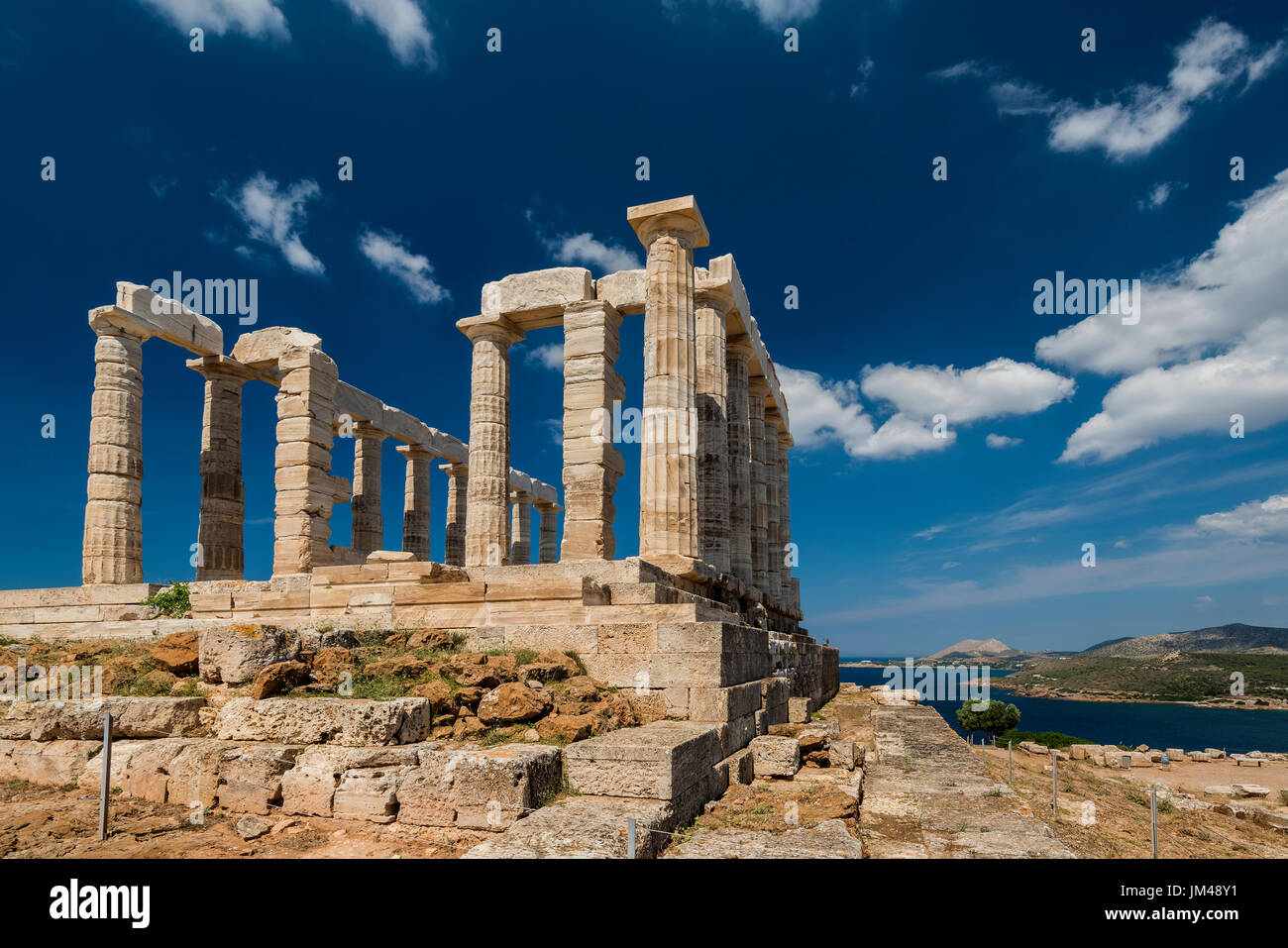 Tempio di Poseidone, Capo Sounion, Attica, Grecia Immagini Stock