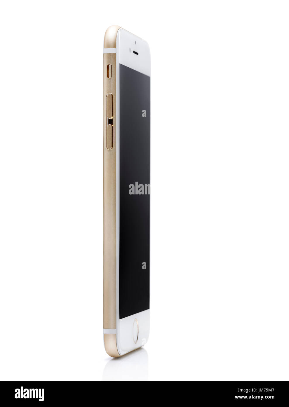 Oro Bianco Apple Iphone 6 6s Sta In Piedi In Un Angolo Vista