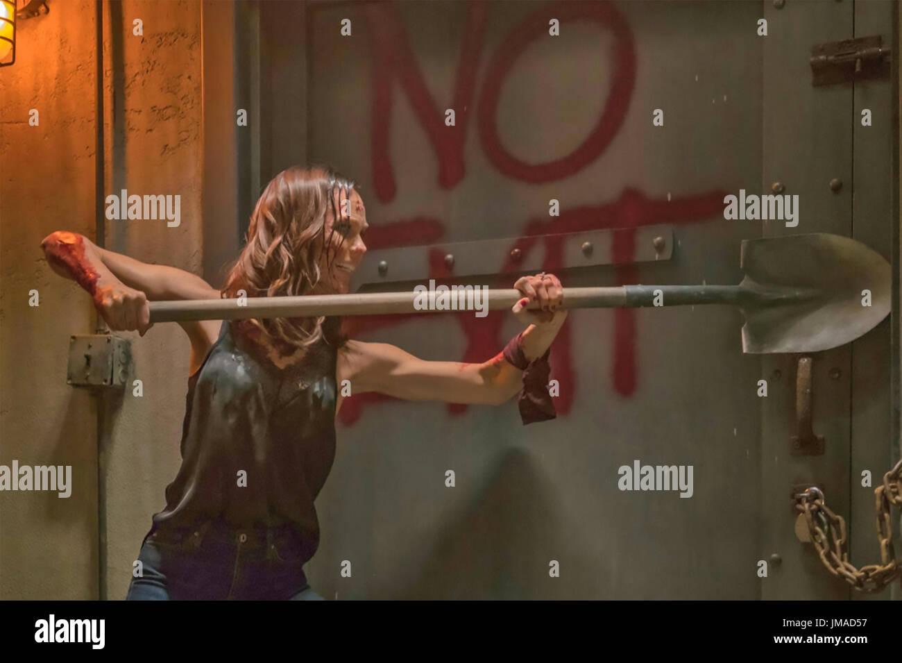 JIGSAW 2017 Lionsgate film con Laura Vandervoort Immagini Stock