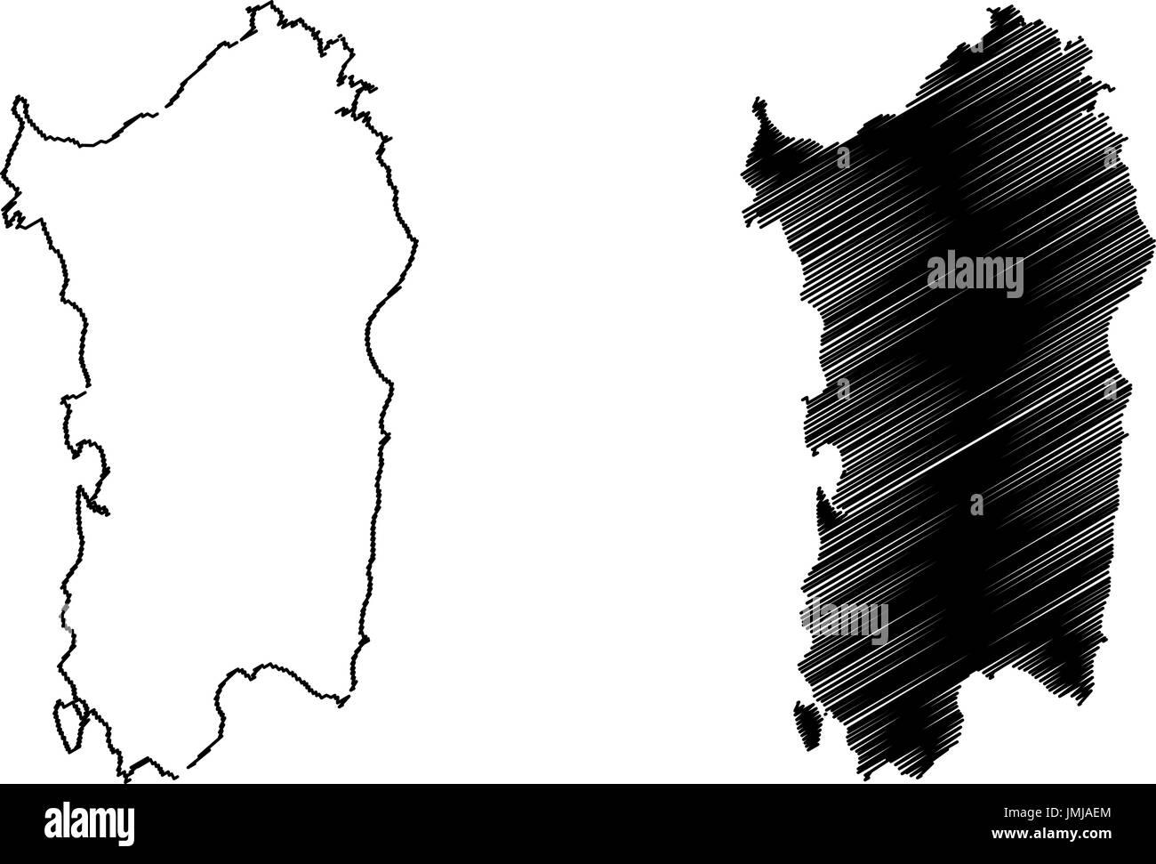Cartina Sardegna Vettoriale.L Isola Di Sardegna Mappa Illustrazione Vettoriale Scribble Disegna L Isola Di Sardegna Immagine E Vettoriale Alamy