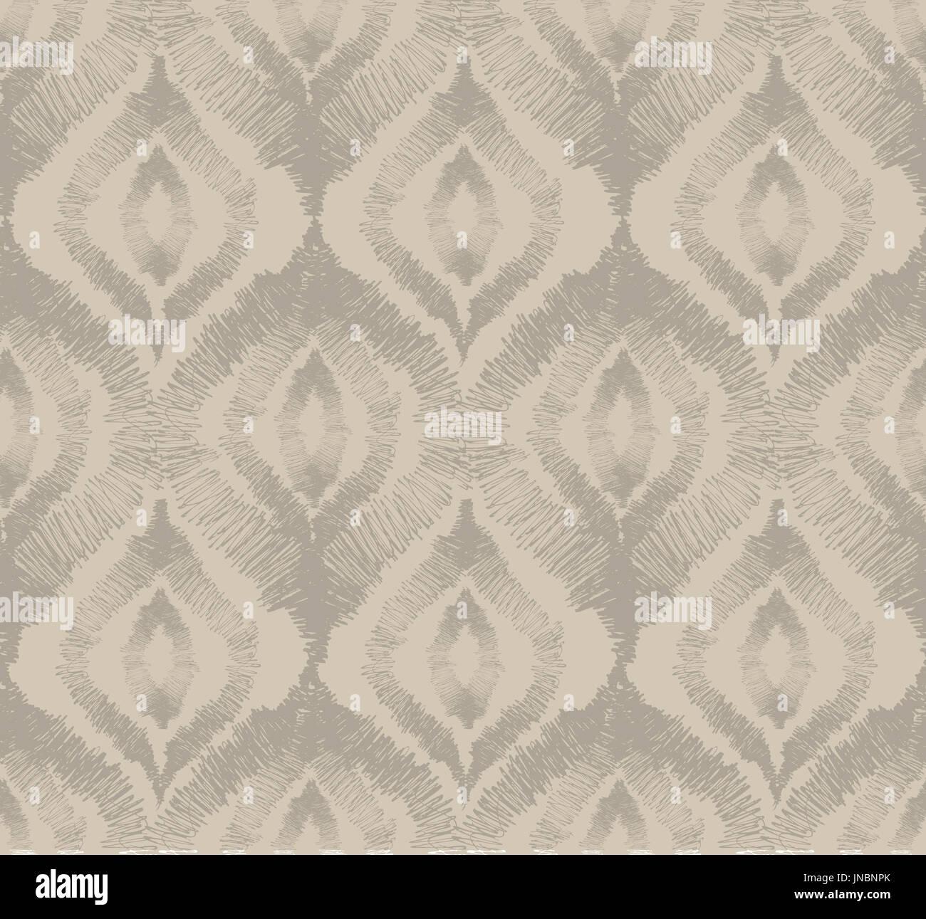 Abstract seamless pattern orientale floreale geometrico ornamento di linea Immagini Stock