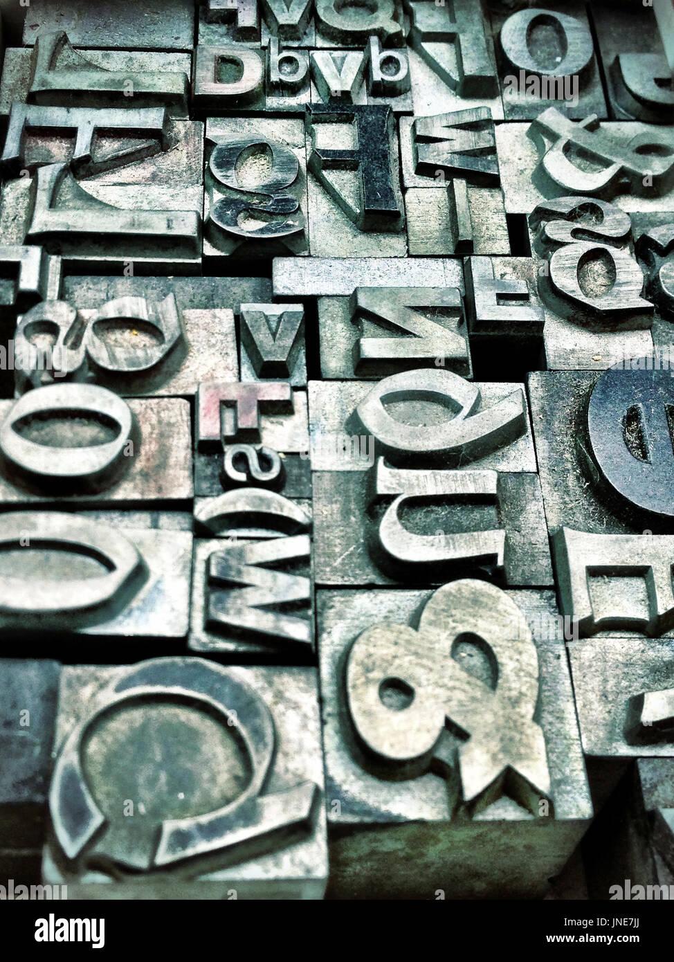 tipografia Immagini Stock