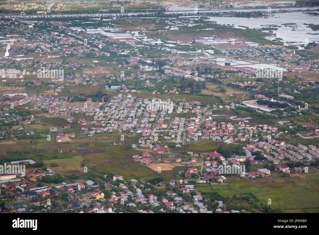 Vista aerea della città di Banda Aceh e Sumatra Immagini Stock