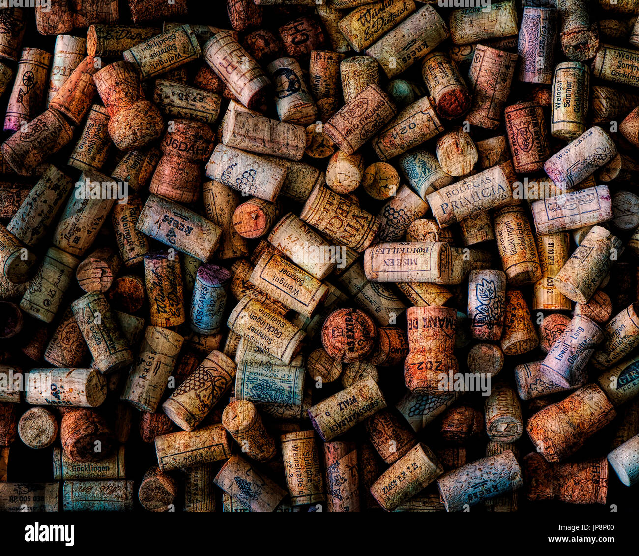 Concetto fotografia: In Vino Veritas Foto Stock