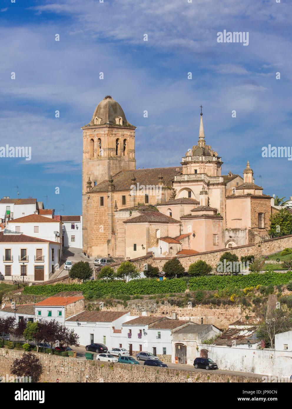 Spagna, regione dell'Extremadura, Jerez de los Caballeros Città, Encarnacion Chiesa Foto Stock